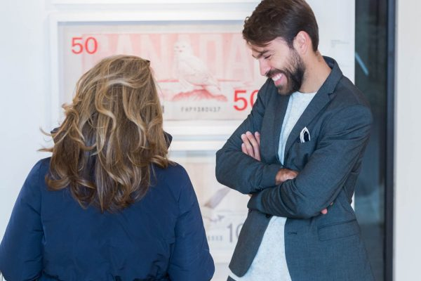 News, Peter Andrew Lusztyk, Taglialatella Galleries, Toronto, Exhibition, Dollar Bills, Twenty, Fifty, One Hundred