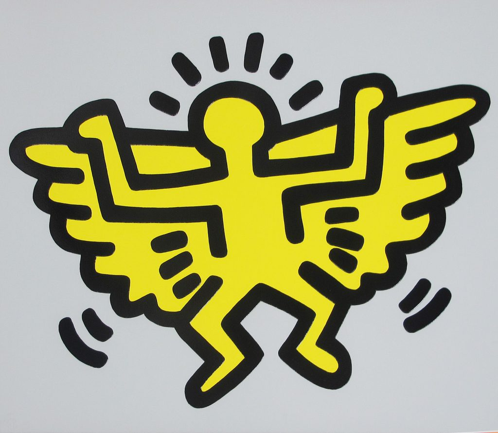 Keith Haring, Icons: (C) Angel, 1990