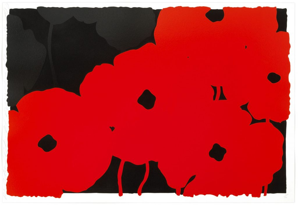 Donald Sultan, Poppies (Reds and Blacks)
