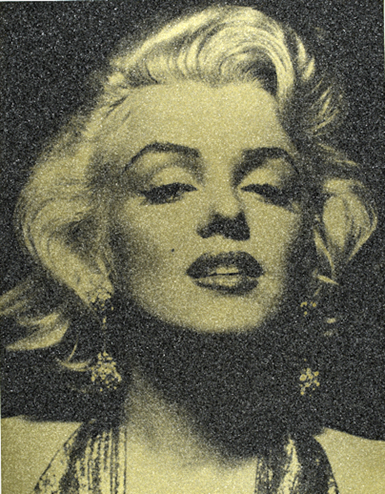 Russell Young, Marilyn Portrait Liquid Gold and Black