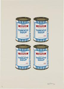 Banksy, Soup Can Quad, Cream Paper
