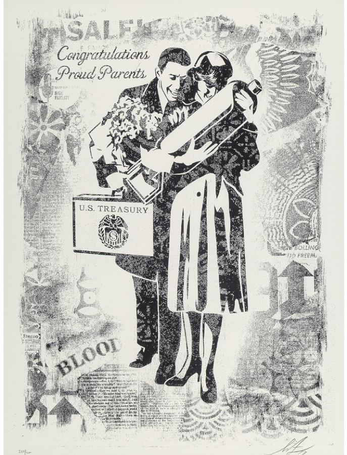 Shepard Fairey, Proud Parents, Damaged Stencil Series
