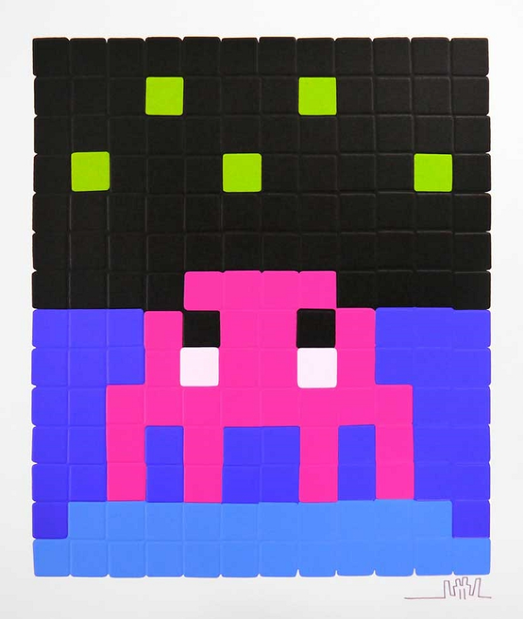 Invader, Space One (Pink)