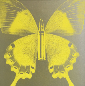 Rubem Robierb, Butterfly I (Yellow on Silver)