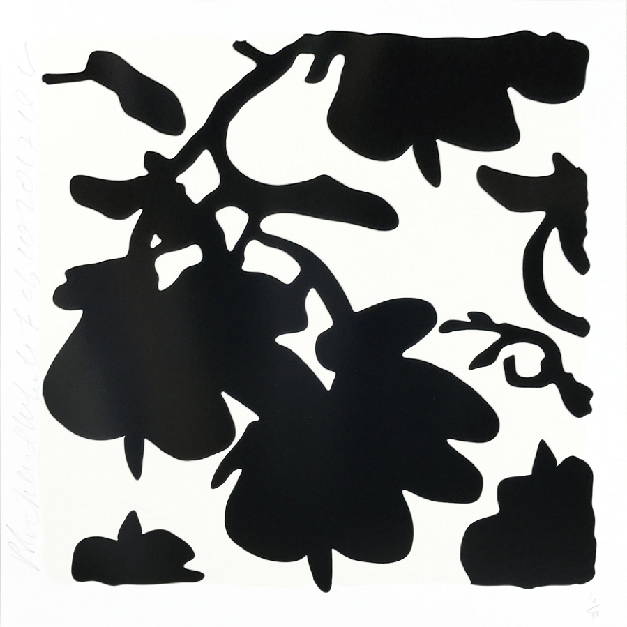 Donald Sultan, Lantern Flowers (Black)