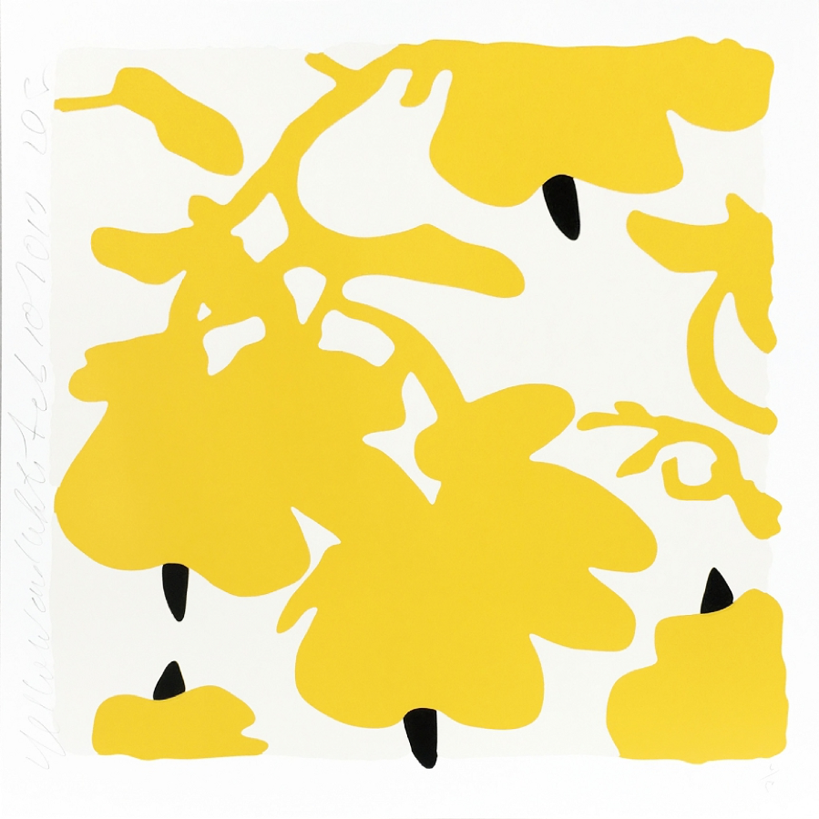 Donald Sultan, Lantern Flowers (Yellow), 2017
