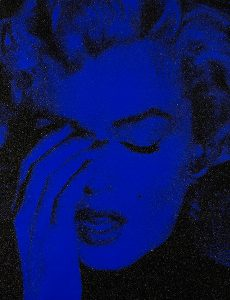 Russell Young, Marilyn Crying - Mediterranean Blue and Black