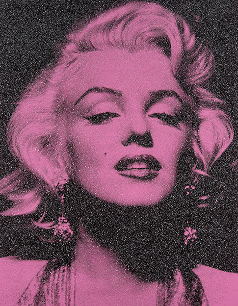 Russell Young, Marilyn Portrait Persian Rose