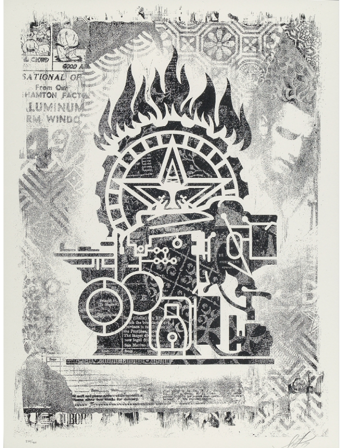 Shepard Fairey, Obey Printing Press, Damaged Stencil Series