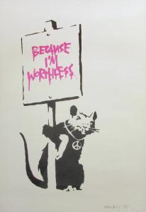 Banksy, Because I'm Worthless, 2004