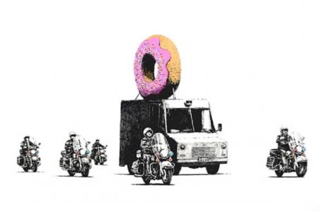 Banksy, Donuts (Strawberry), 2009