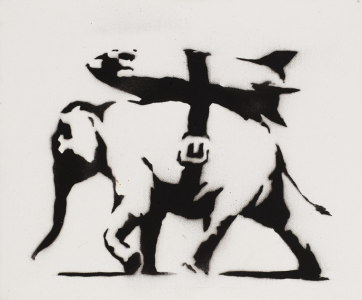 Banksy, Heavy Weaponry, 2004
