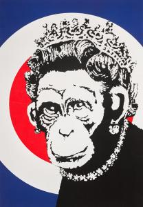 Banksy, Monkey Queen, 2003