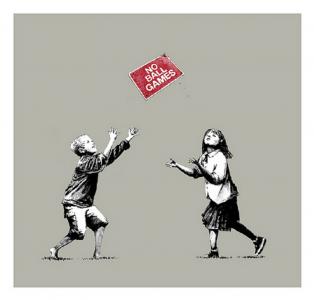 Banksy, No Ball Games, 2009