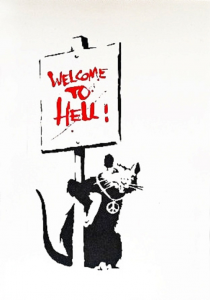 Banksy, Welcome to Hell, 2004